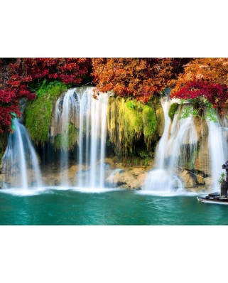 Puzzle Grafika - Waterfall in Forest, 2.000 piese (54875)
