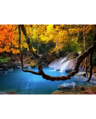 Puzzle Grafika - Waterfall in Forest, 300 piese (55260)
