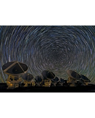 Puzzle Grafika - Whirling Southern Star Trails over ALMA, 1.000 piese dificile (49730)