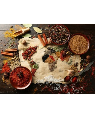 Puzzle Grafika - World map in Spices, 2.000 piese (55538)