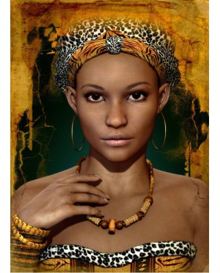 Puzzle Grafika Kids - African Woman, 300 piese (53701)