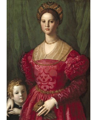 Puzzle Grafika Kids - Agnolo Bronzino: A Young Woman and Her Little Boy, 1540, 100 piese (55952)