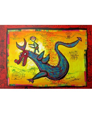 Puzzle Grafika Kids - Anne Poire and Patrick Guallino: Dragon Talisman, 100 piese (59963)
