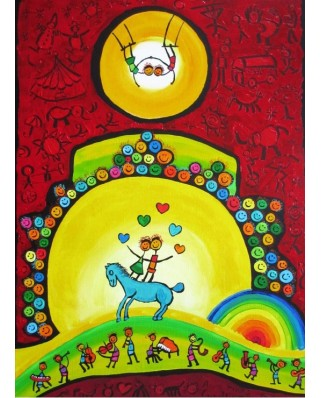 Puzzle Grafika Kids - Anne Poire and Patrick Guallino: Equilibre, 300 piese (60022)