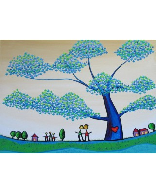 Puzzle Grafika Kids - Anne Poire and Patrick Guallino: Feuilles Protectrices, 300 piese (60030)