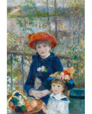 Puzzle Grafika Kids - Auguste Renoir: The Two Sisters, On the Terrace, 1881, 12 piese XXL (49399)