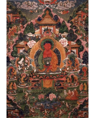 Puzzle Grafika Kids - Buddha Amitabha in His Pure Land of Suvakti, 100 piese (61891)