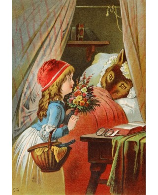 Puzzle Grafika Kids - Carl Offterdinger: Little Red Riding Hood, illustration, 12 piese XXL (49343)