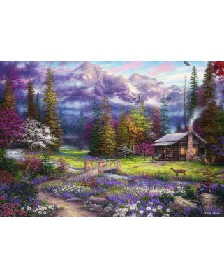 Puzzle Grafika Kids - Chuck Pinson: Inspiration of Spring Meadows, 100 piese (62057)
