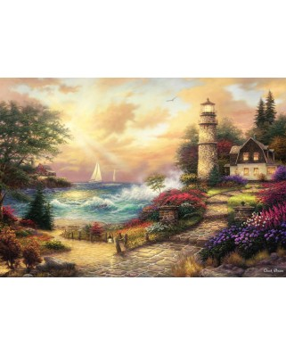 Puzzle Grafika Kids - Chuck Pinson: Seaside Dreams, 100 piese (63089)