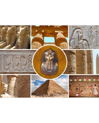 Puzzle Grafika Kids - Collage - Egypt, 300 piese (54831)