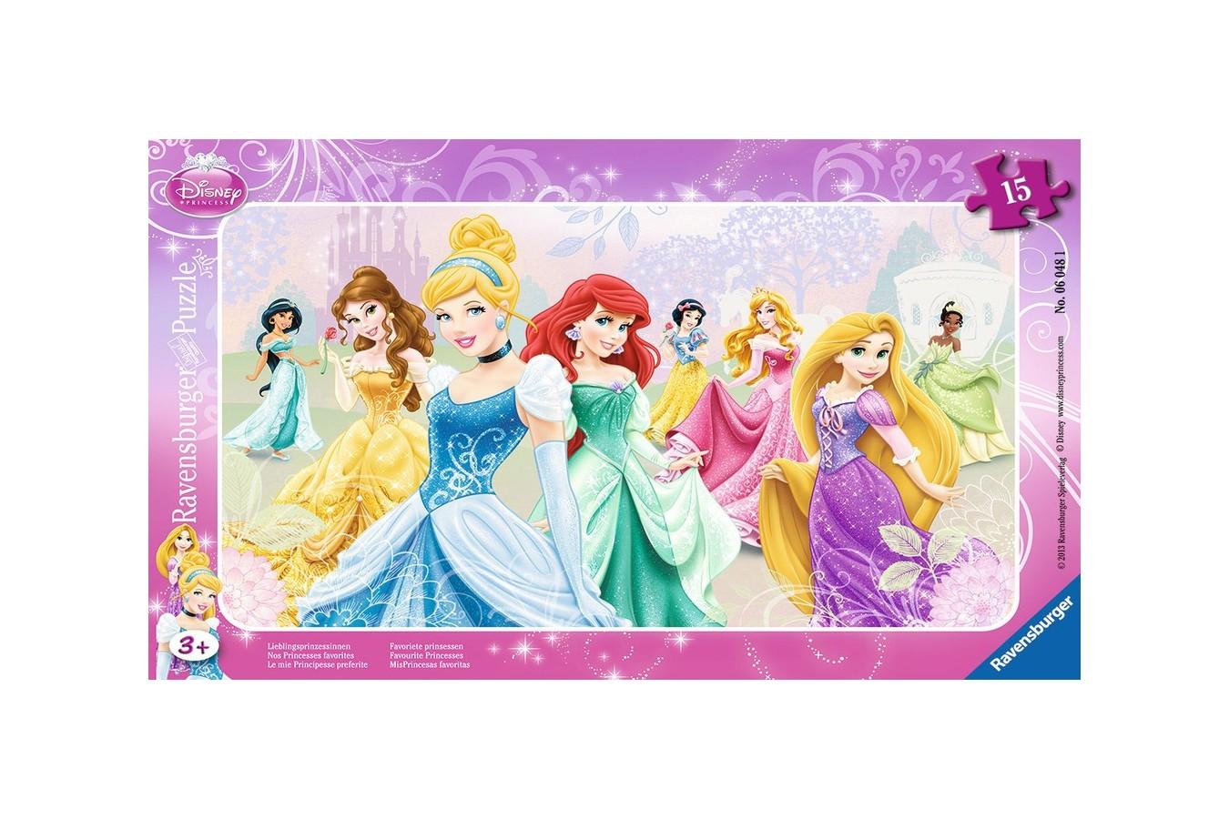 Puzzle Ravensburger - Printesele Disney, 15 piese (06048)