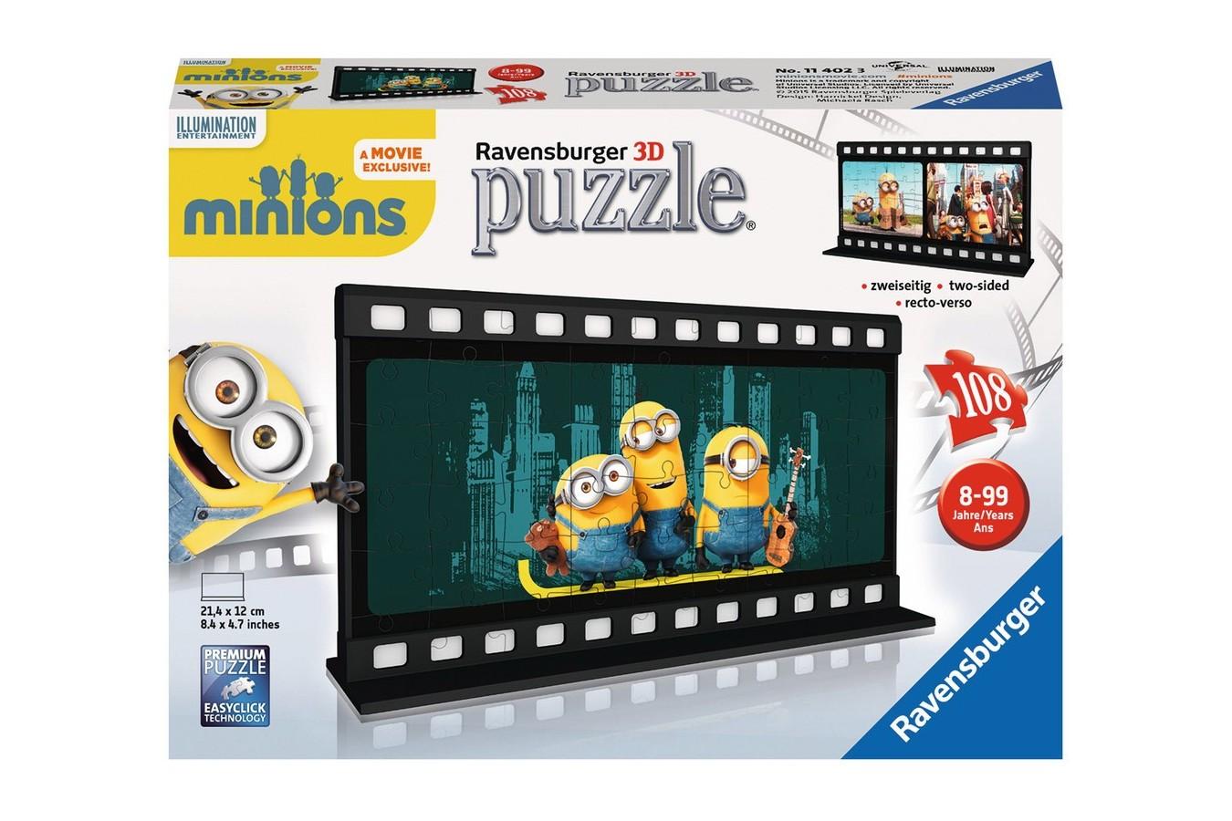 Puzzle glob Ravensburger - Minions Diafilm, 108 piese (11202)