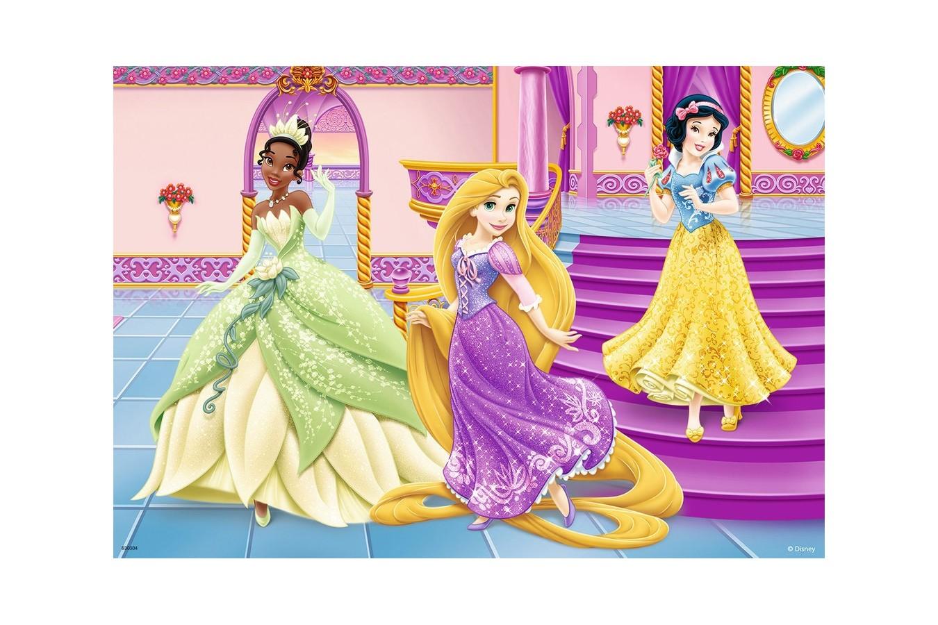 Puzzle Ravensburger - Printesele Disney, 2x12 piese (07555)