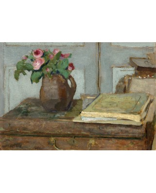 Puzzle Grafika Kids - Edouard Vuillard: The Artist's Paint Box and Moss Roses, 1898, 100 piese (56308)
