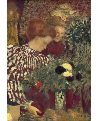 Puzzle Grafika Kids - Edouard Vuillard: Woman in a Striped Dress, 1895, 100 piese (56312)