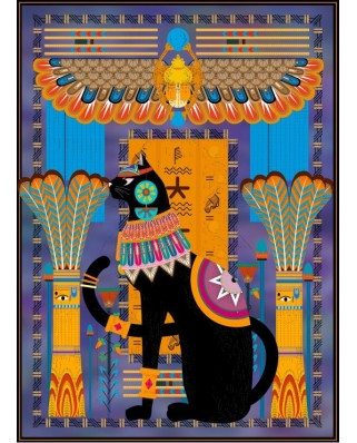 Puzzle Grafika Kids - Egyptian Cat, 300 piese (54846)