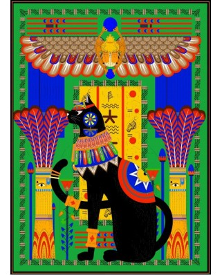 Puzzle Grafika Kids - Egyptian Cat, 300 piese (54847)