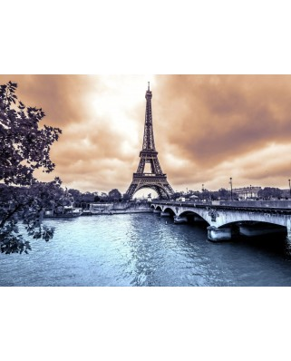 Puzzle Grafika Kids - Eiffel Tower from Seine. Winter rainy day in Paris, 300 piese (52340)