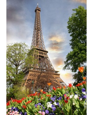 Puzzle Grafika Kids - Eiffel Tower, France, 100 piese (55549)