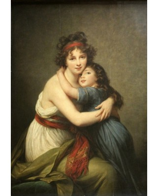 Puzzle Grafika Kids - Elisabeth Vigee-Lebrun: Madame Vigee-Lebrun and her daughter, 1789, 100 piese (58685)