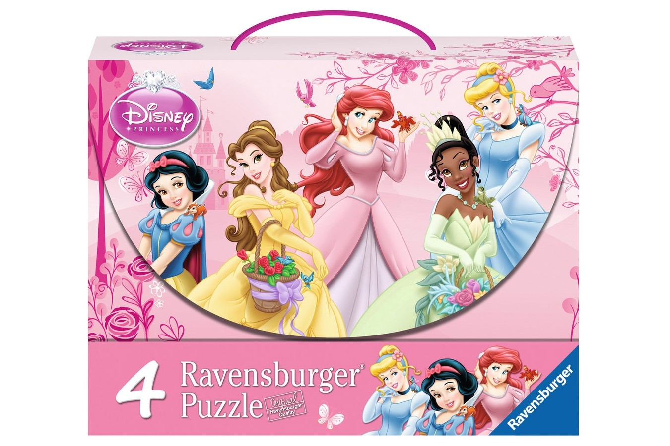 Puzzle Ravensburger - Printesele Disney, 2x64 piese (07267)