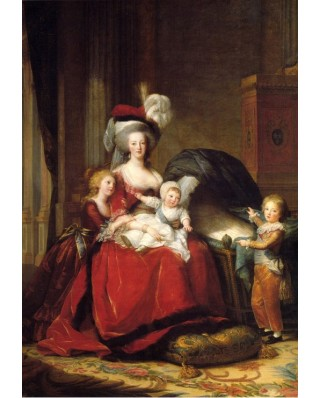 Puzzle Grafika Kids - Elisabeth Vigee-Lebrun: Marie Antoinette and her Children, 1787, 100 piese (58682)
