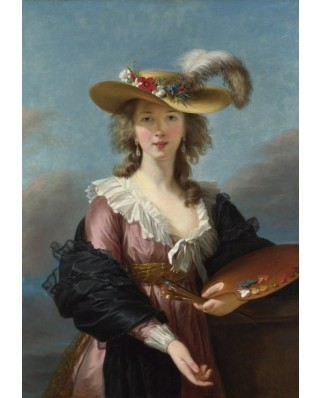 Puzzle Grafika Kids - Elisabeth Vigee-Lebrun: Self-portrait in a Straw Hat, 1782, 100 piese (58671)