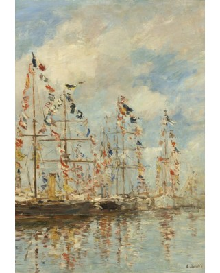Puzzle Grafika Kids - Eugene Boudin: Yacht Basin at Trouville-Deauville, 1895/1896, 100 piese (55327)