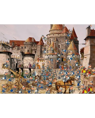 Puzzle Grafika Kids - Francois Ruyer: Attack of the Castle, 300 piese (58477)