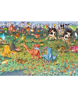 Puzzle Grafika Kids - Francois Ruyer: Dinosaurs, 100 piese (58518)