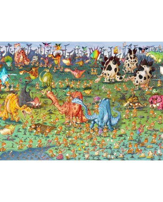 Puzzle Grafika Kids - Francois Ruyer: Dinosaurs, 300 piese (58517)
