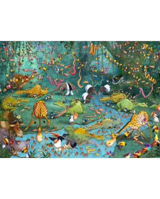 Puzzle Grafika Kids - Francois Ruyer: Jungle, 300 piese (54598)