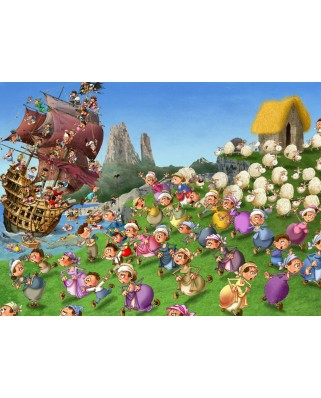 Puzzle Grafika Kids - Francois Ruyer: Pirates, 300 piese (54656)