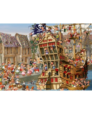 Puzzle Grafika Kids - Francois Ruyer: Pirates, 300 piese (54730)