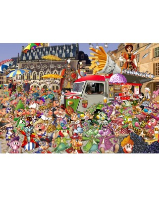 Puzzle Grafika Kids - Francois Ruyer: The Lille Braderie, 100 piese (64648)