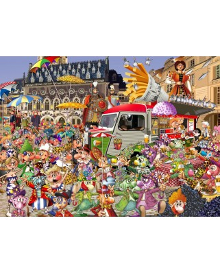 Puzzle Grafika Kids - Francois Ruyer: The Lille Braderie, 300 piese (64647)