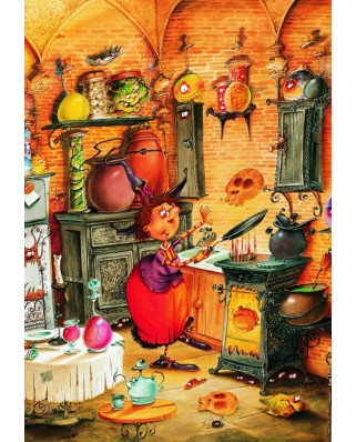Puzzle Grafika Kids - Francois Ruyer: The Witch, 100 piese (58488)
