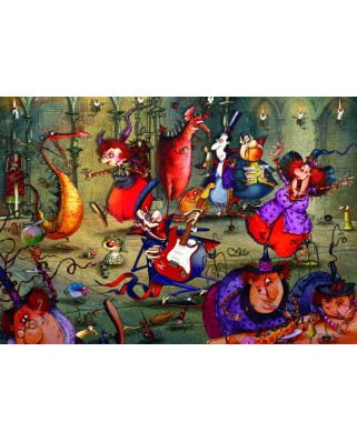 Puzzle Grafika Kids - Francois Ruyer: The Witches Festival, 100 piese (61801)