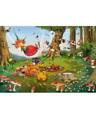 Puzzle Grafika Kids - Francois Ruyer: Witch, 100 piese (61797)