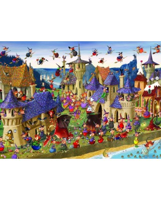 Puzzle Grafika Kids - Francois Ruyer: Witches, 300 piese (54702)