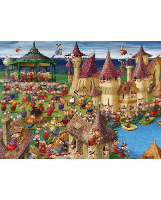 Puzzle Grafika Kids - Francois Ruyer: Witches, 300 piese (54716)