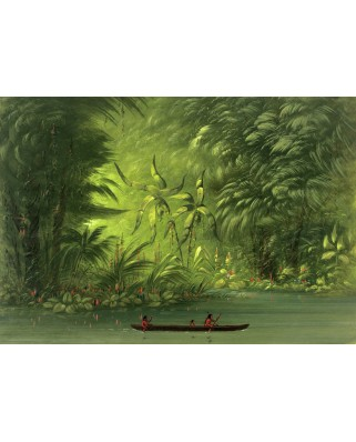 Puzzle Grafika Kids - George Catlin: Entrance to a Lagoon, Shore of the Amazon, 1854-1869, 100 piese (58901)