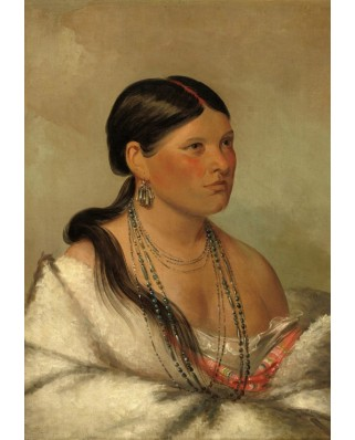 Puzzle Grafika Kids - George Catlin: The Female Eagle - Shawano, 1830, 100 piese (58889)