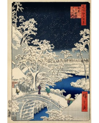 Puzzle Grafika Kids - Hiroshige Utagawa: Drum bridge at Meguro and Sunset Hill, 1857, 12 piese XXL (49743)