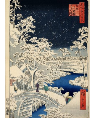 Puzzle Grafika Kids - Hiroshige Utagawa: Drum bridge at Meguro and Sunset Hill, 1857, 24 piese (49744)