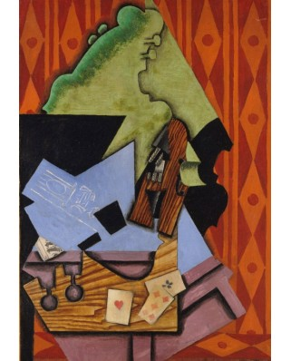 Puzzle Grafika Kids - Juan Gris: Violin and Playing Cards on a Table, 1913, 100 piese (53691)