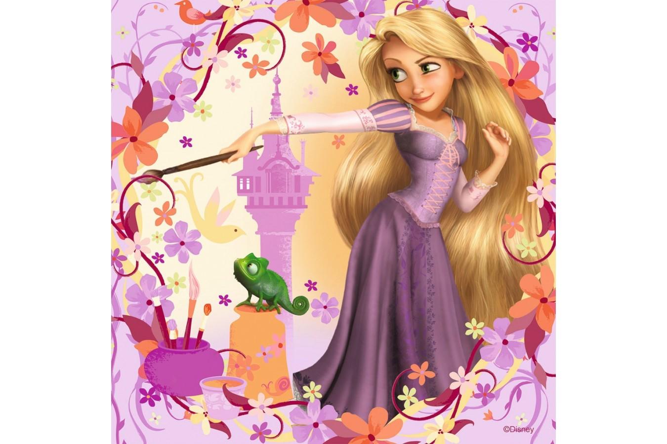 Puzzle Ravensburger - Rapunzel, 3x49 piese (09298)