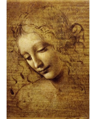 Puzzle Grafika Kids - Leonardo Da Vinci: The Face of Giovane Fanciulla, 1508, 100 piese (53685)