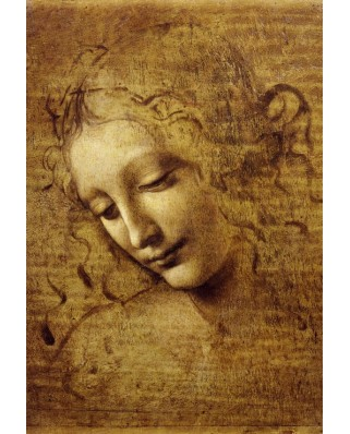 Puzzle Grafika Kids - Leonardo Da Vinci: The Face of Giovane Fanciulla, 1508, 12 piese XXL (53688)